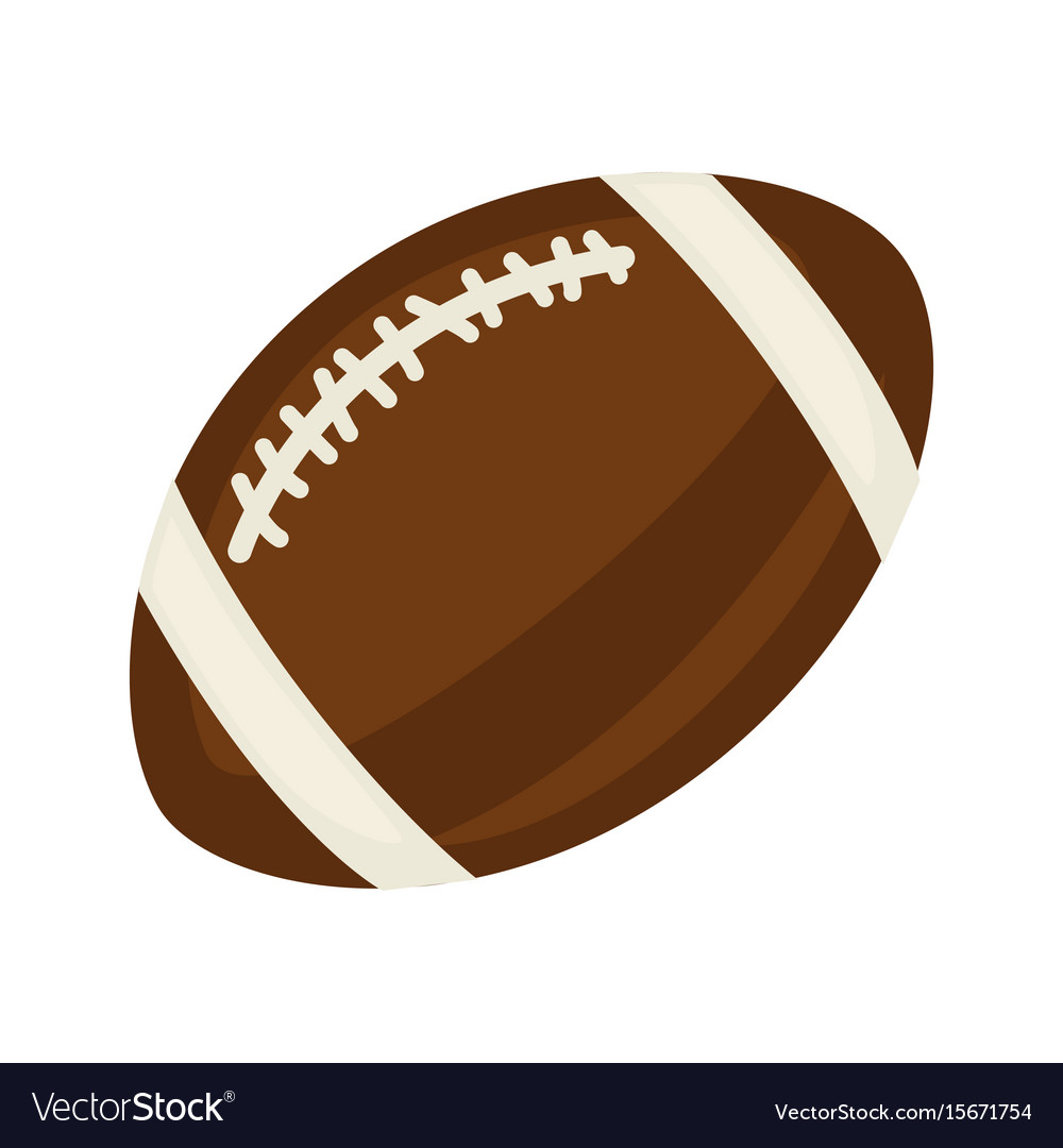 Brown ball for rugby vector image