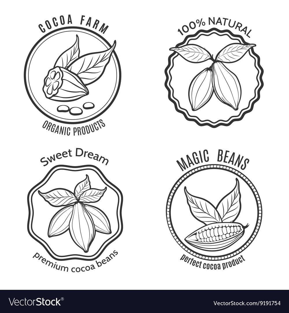 Cacao logo set vector image