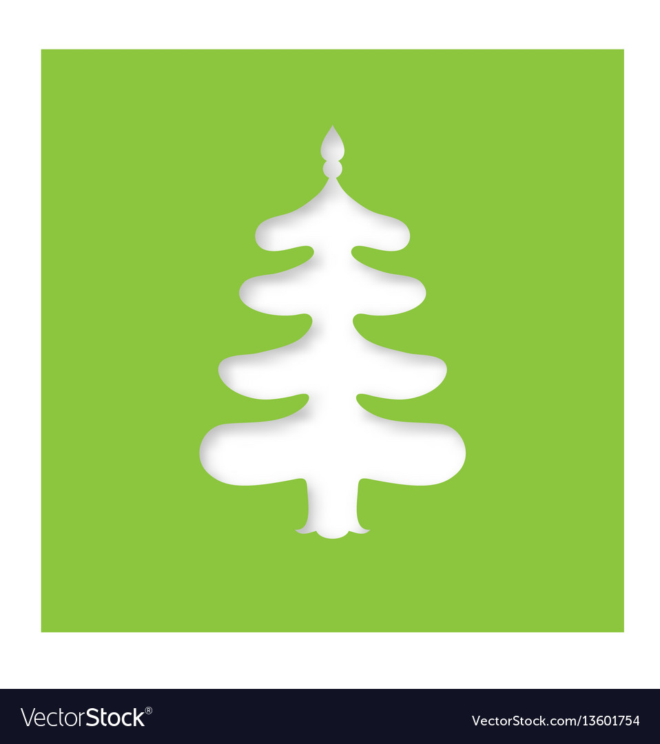 christmas tree laser cutting template royalty free vector