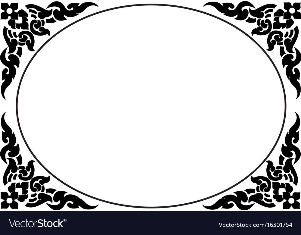 Frame of thai pattern vector image