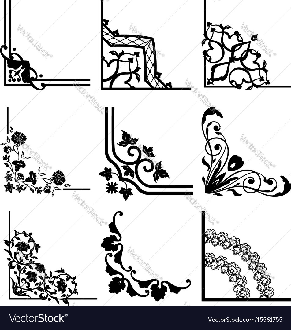 Abstract corner pattern vector image