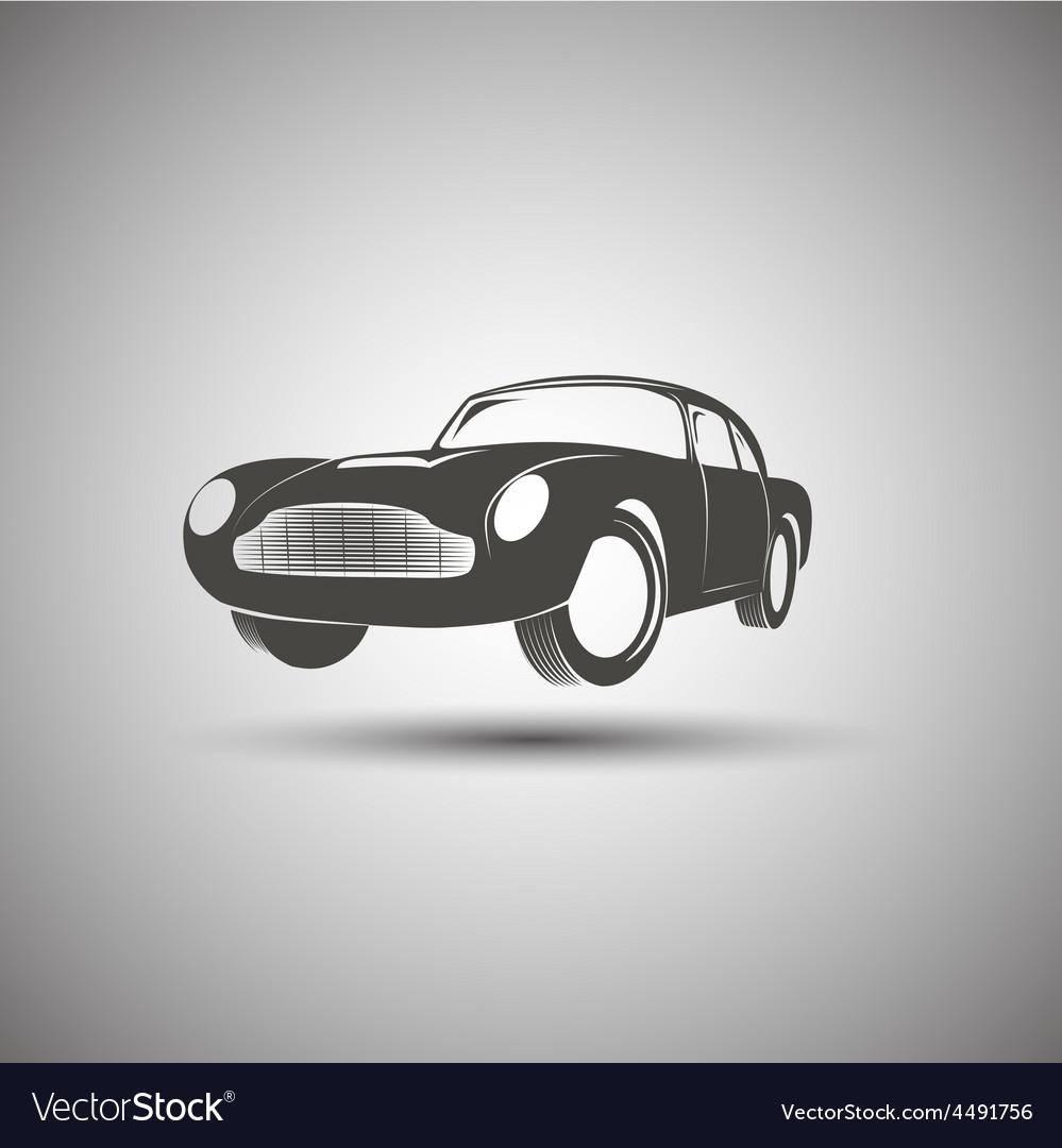 Car logo design Transport vintage Royalty Free Vector Image