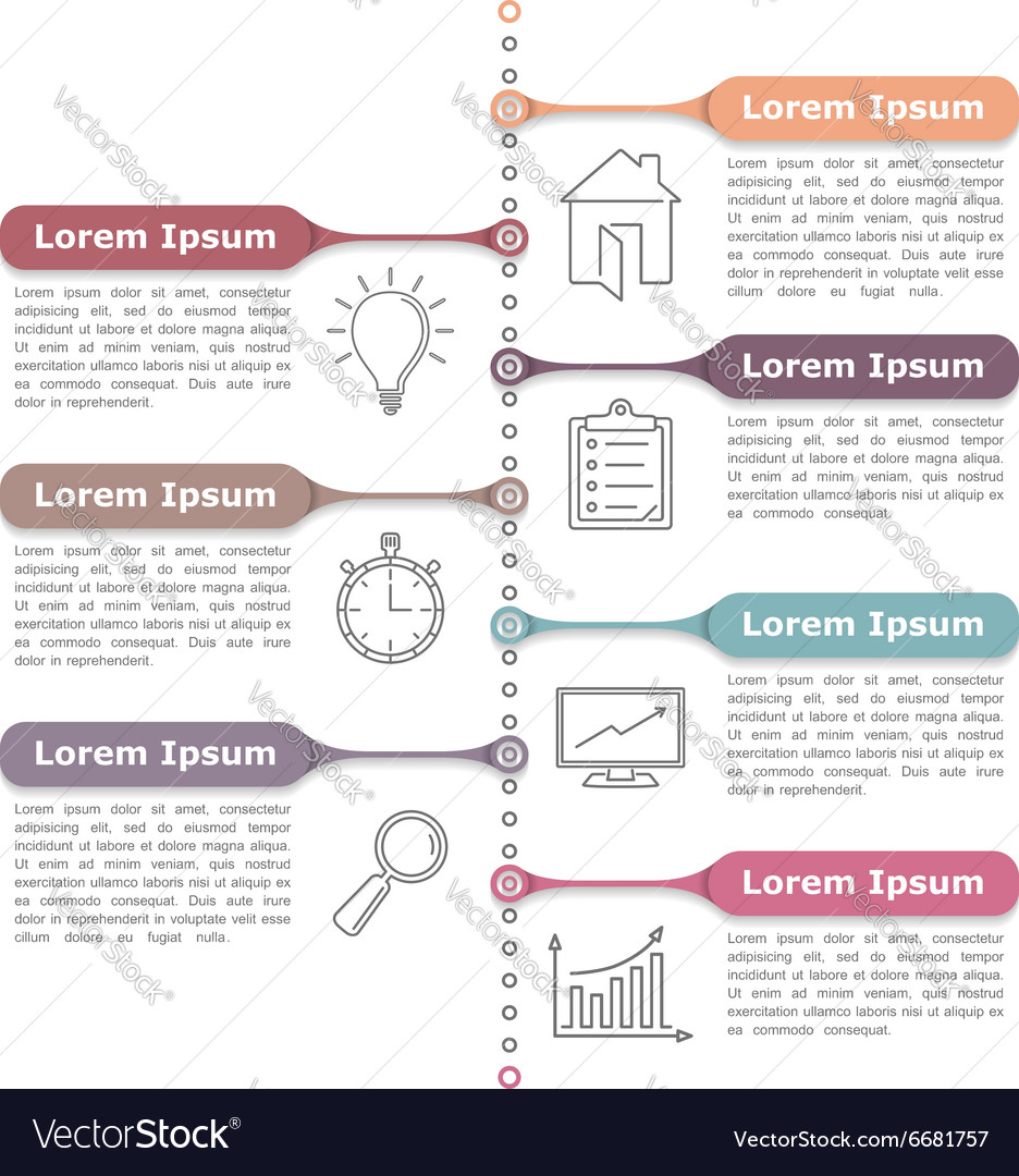 Process Diagram Template vector image