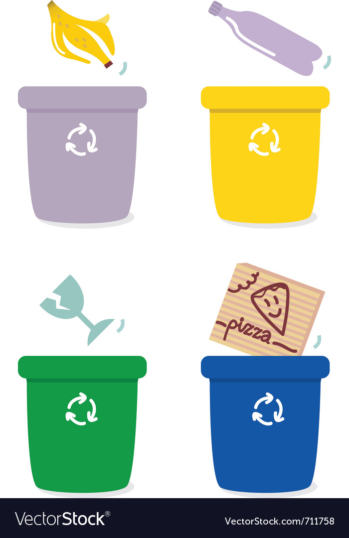 Garbage recycle vector image