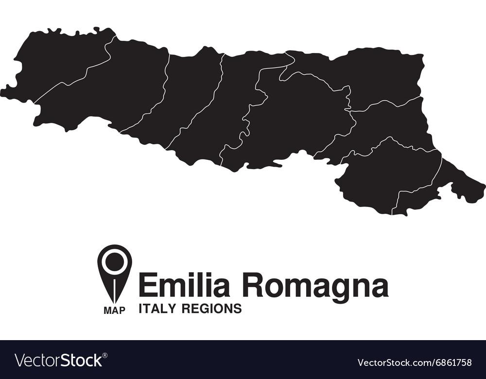 Italy Emilia Romagna map vector image
