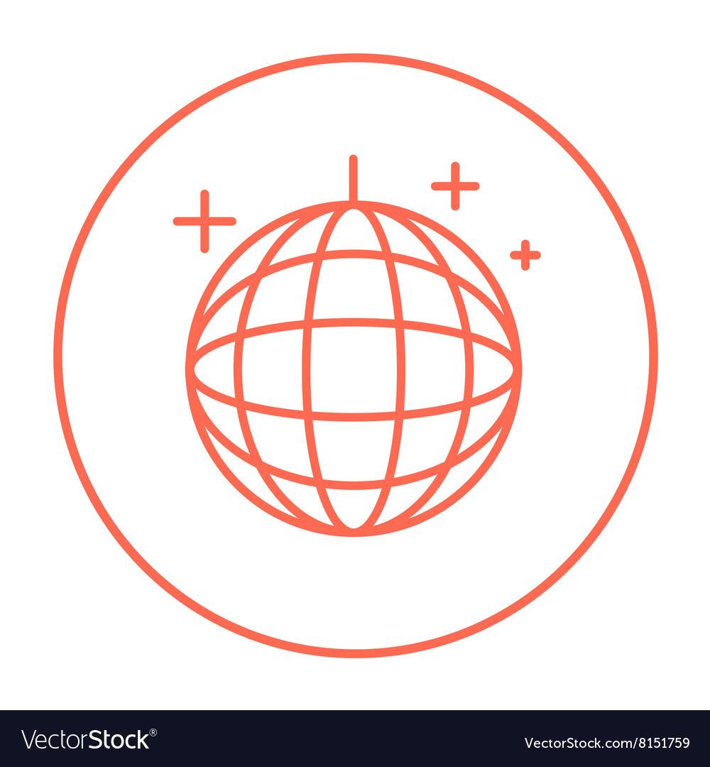 Disco ball line icon vector image
