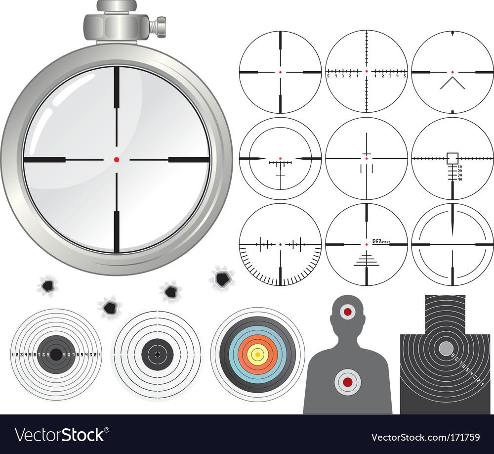 Shooting kit vector image