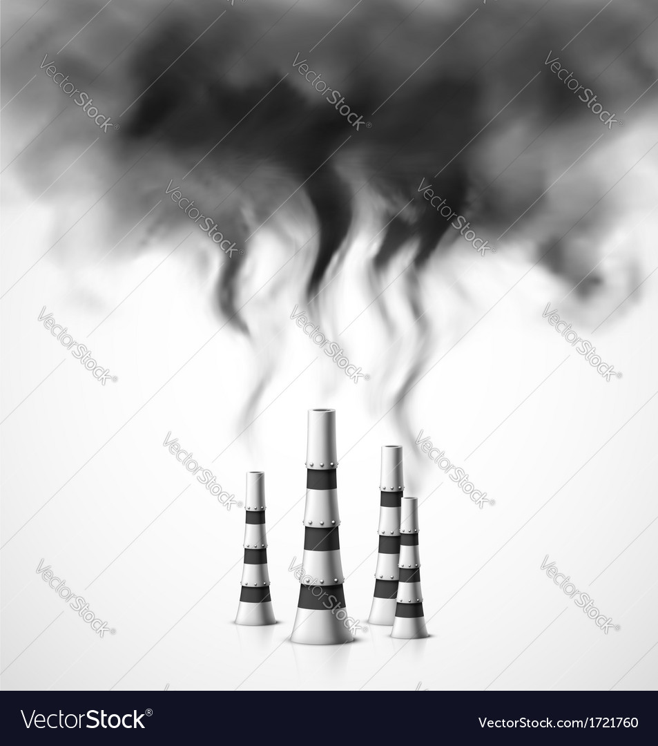 Pollution of environment vector image