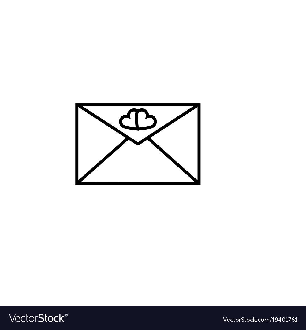 Love envelope icon vector image