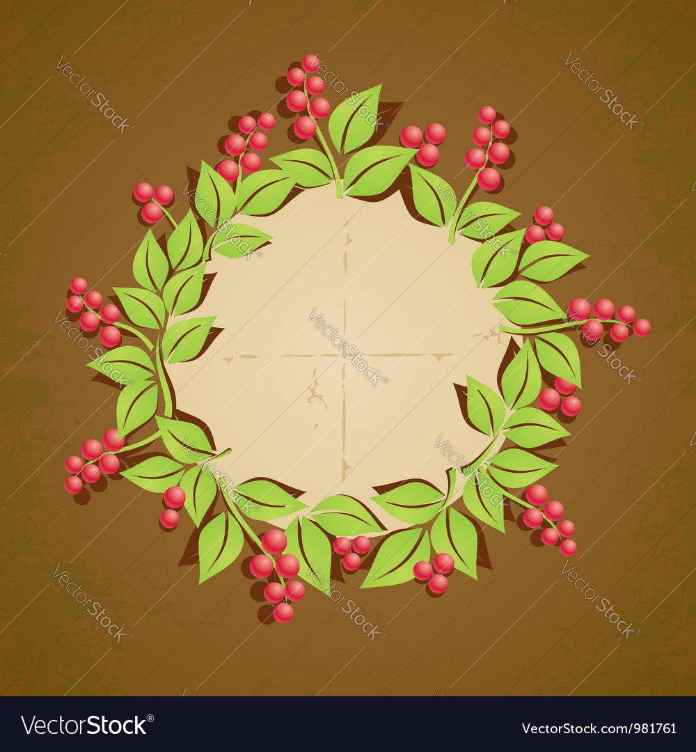 Retro plant berry vector image