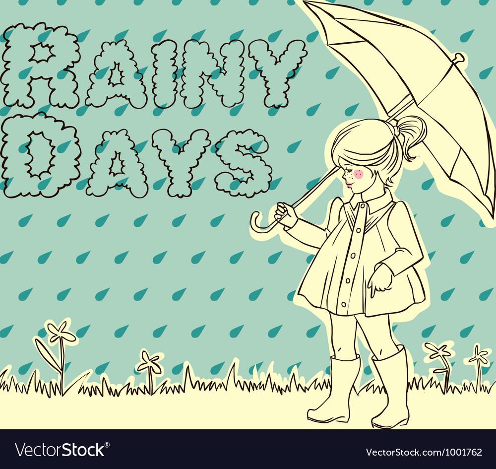 Rainy days vector image