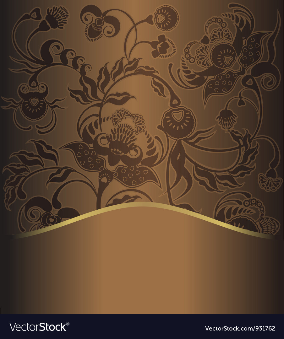 Brown pattern retro vector image