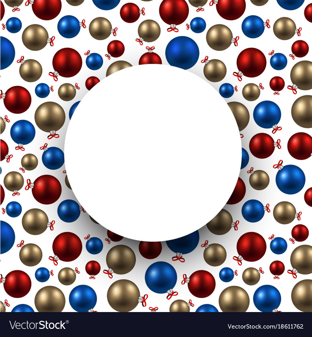 New year background with colorful balls vector image