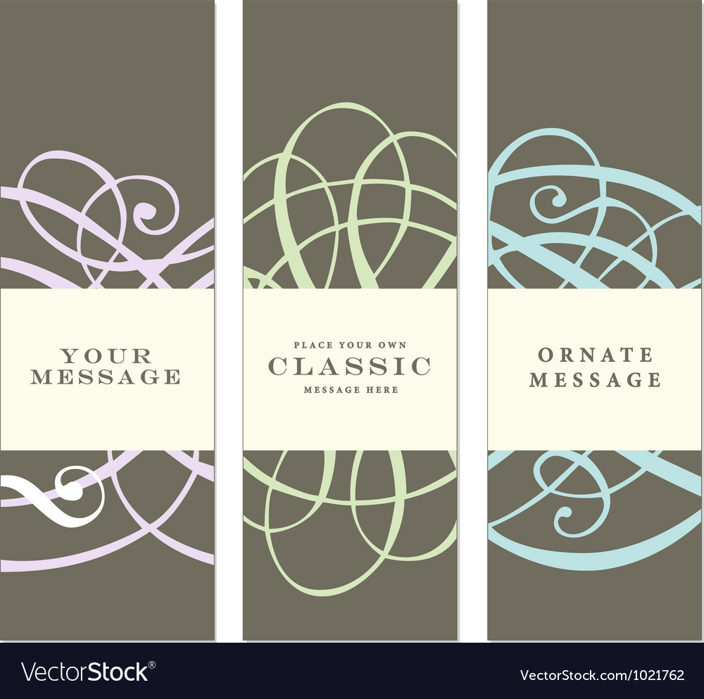 Vertical Labels vector image