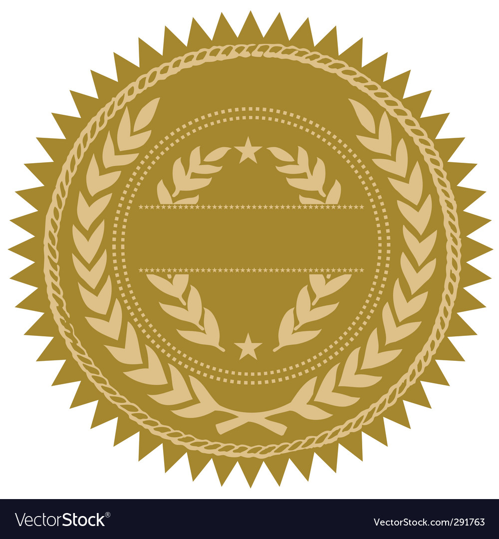 Gold seal vector image