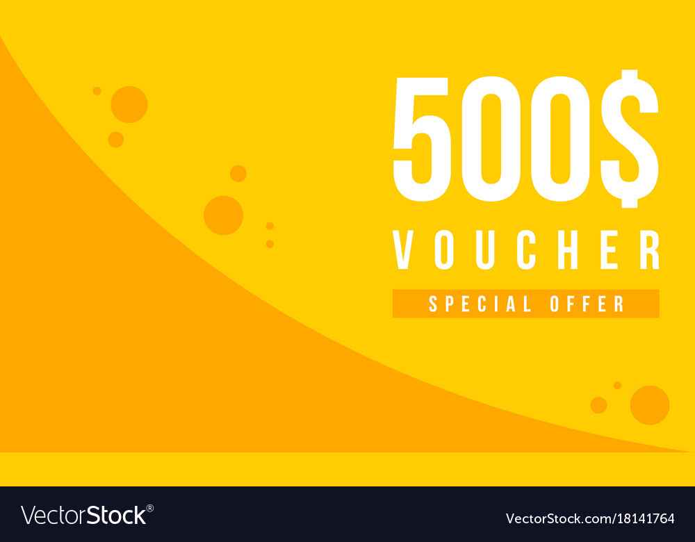 Gift voucher template design collection Royalty Free Vector