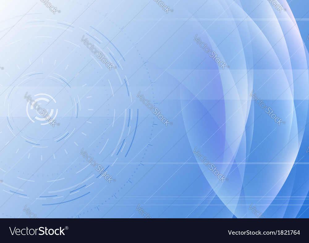 Hi-tech abstract background with transparent waves vector image