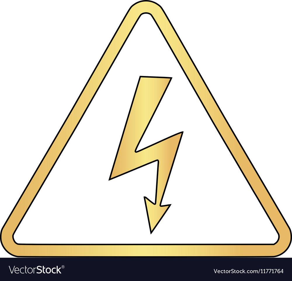 High Voltage Computer : High voltage computer symbol royalty free vector image
