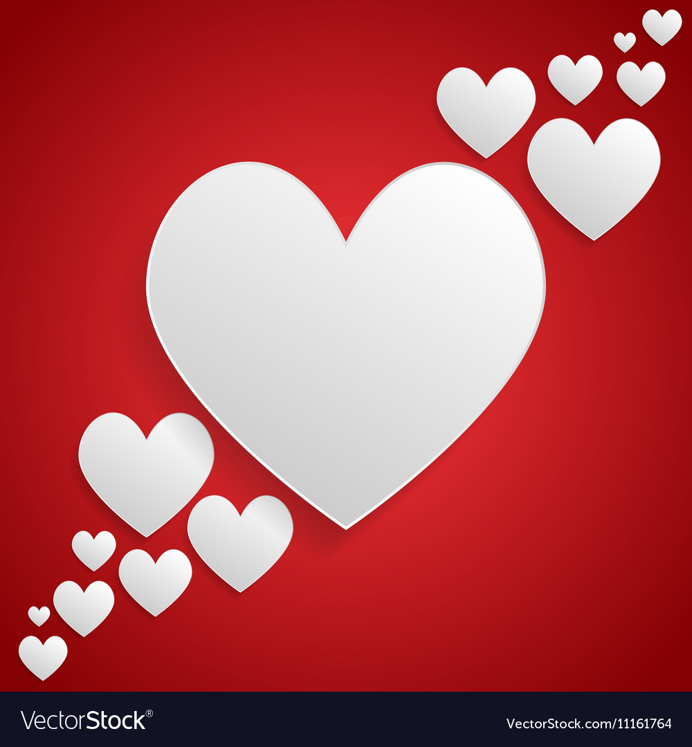 I Love You White Frame Valentines Day Vector Image