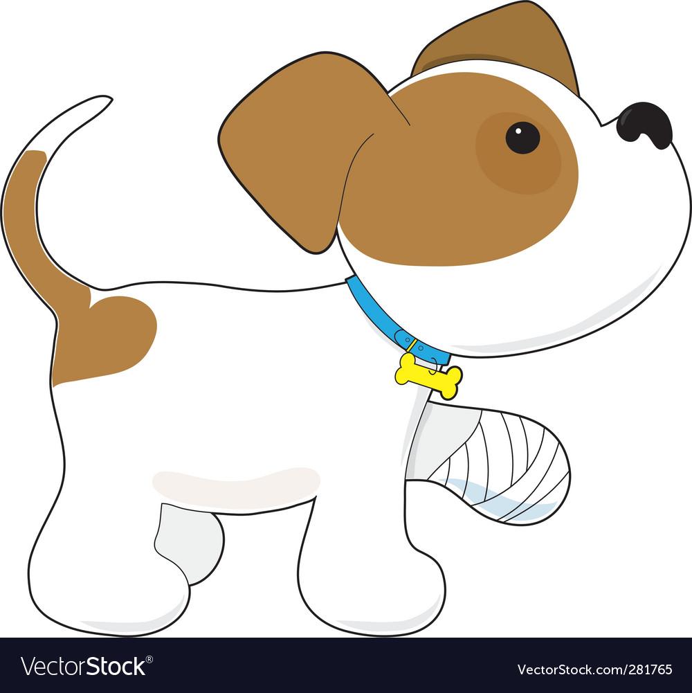 Cartoon puppy vector image