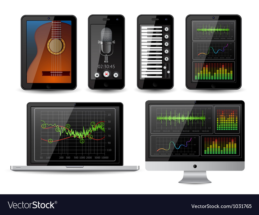 Isolated gadgets vector image