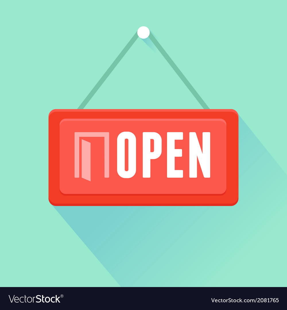 Open label vector image