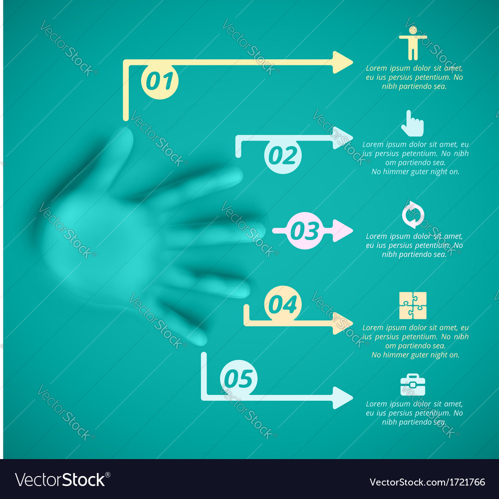 Five steps vector image