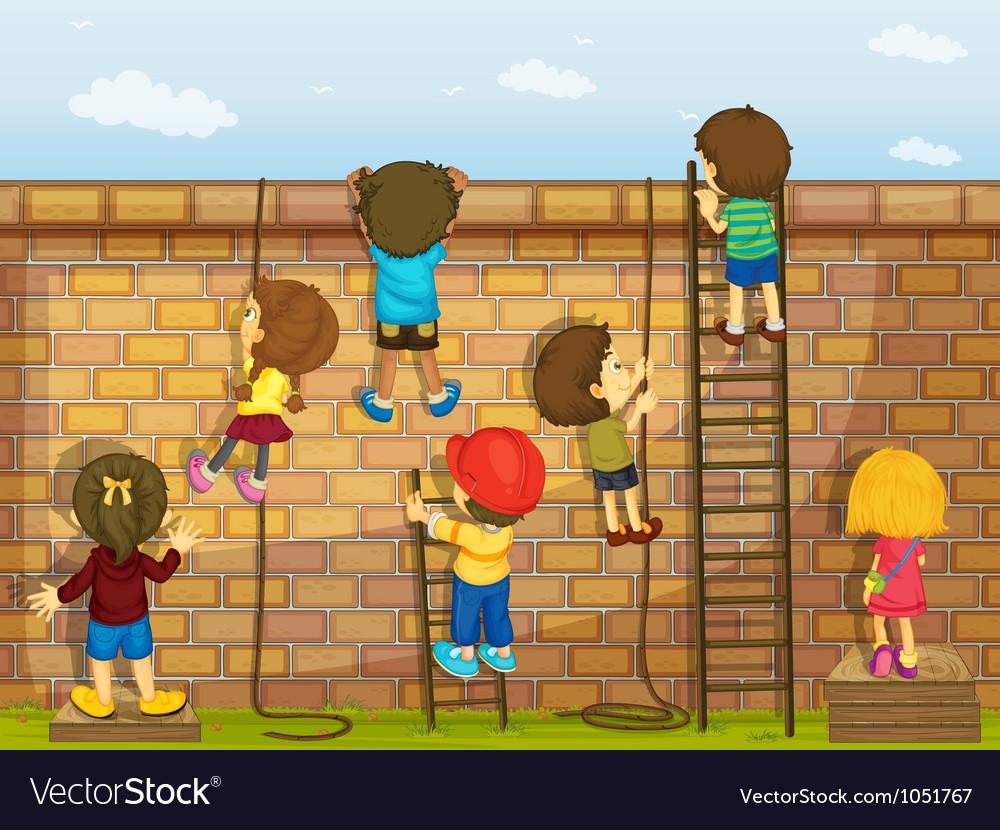 Construction kids Vector Image