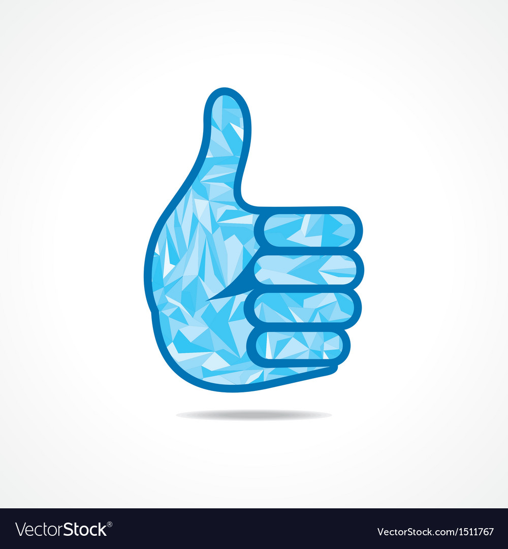 Abstract thumbs up or like symbol with triangles vector image abstract thumbs up or like symbol with triangles vector image buycottarizona Choice Image