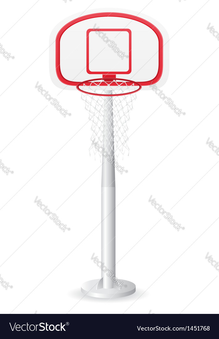 Basketball backboard vector image