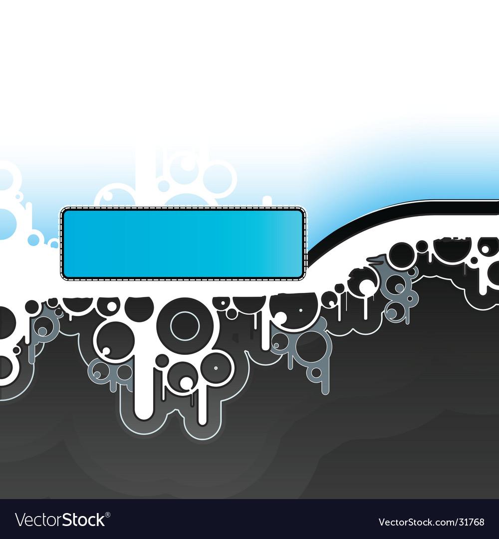 Retro billboard design background vector image