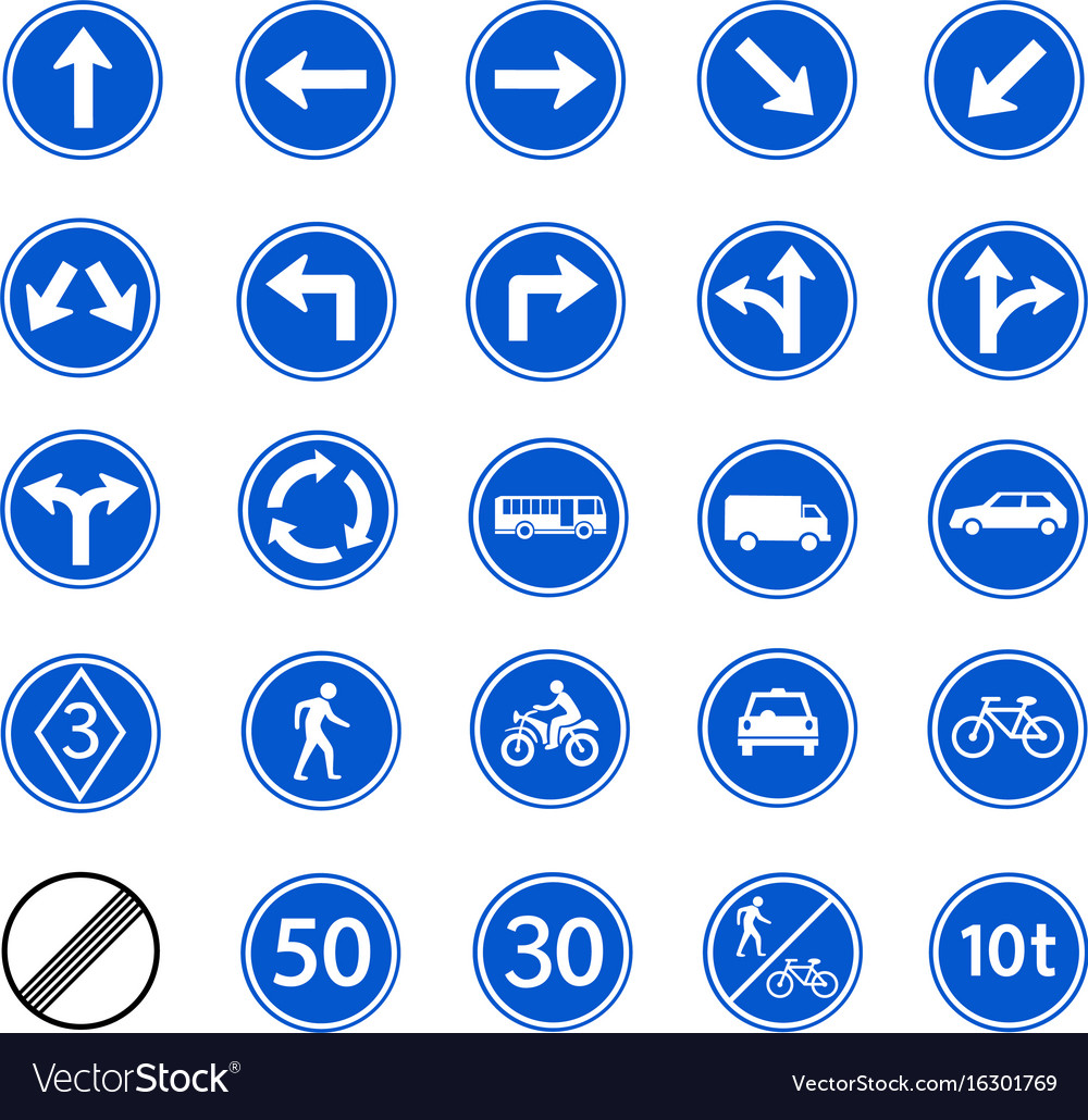 Traffic regulatory sign vector image