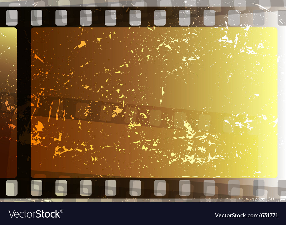 Grunge fragmentary film strips background for desi vector image
