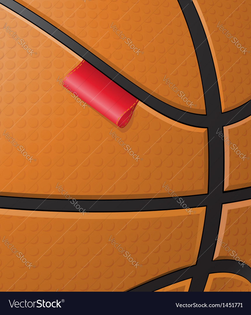 Basketball background with label vector image
