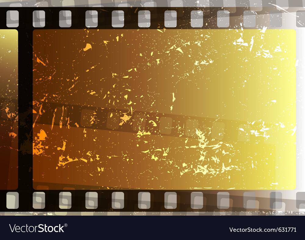 Grunge fragmentary film strips background for desi vector image