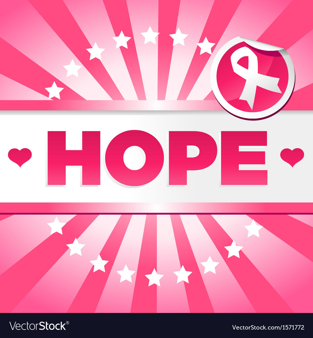 Breast Cancer Awarness Poster Vector Image