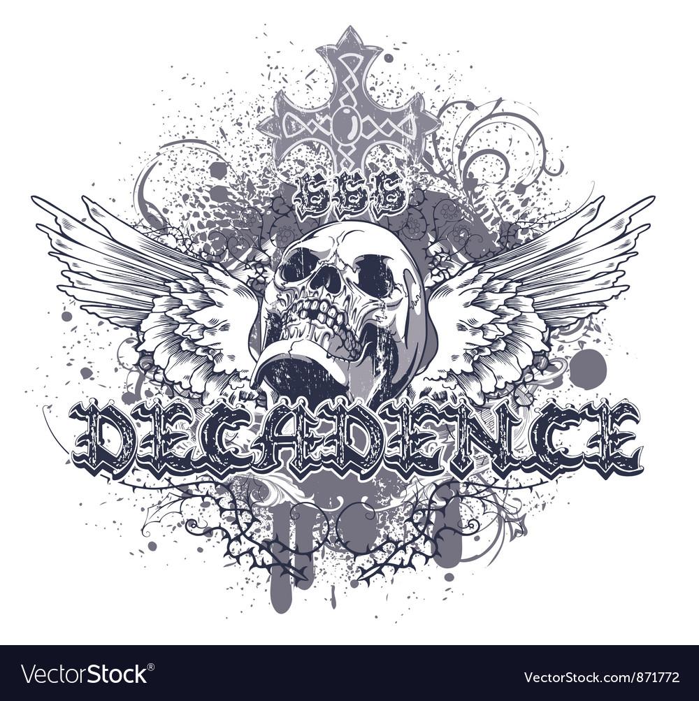 Vintage grunge t-shirt design vector image