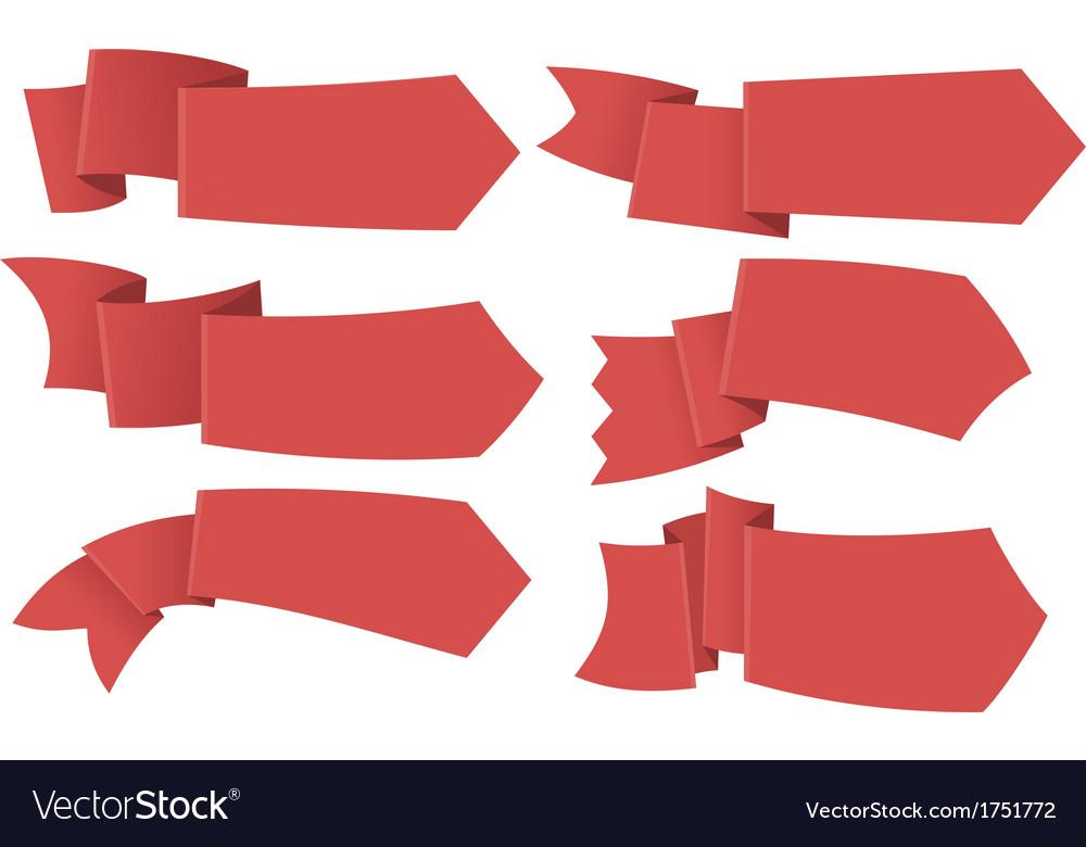 Set of ribbon tag labels vector image