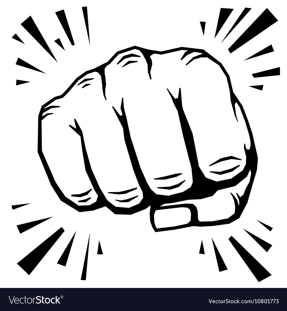 Punching fist hand vector image