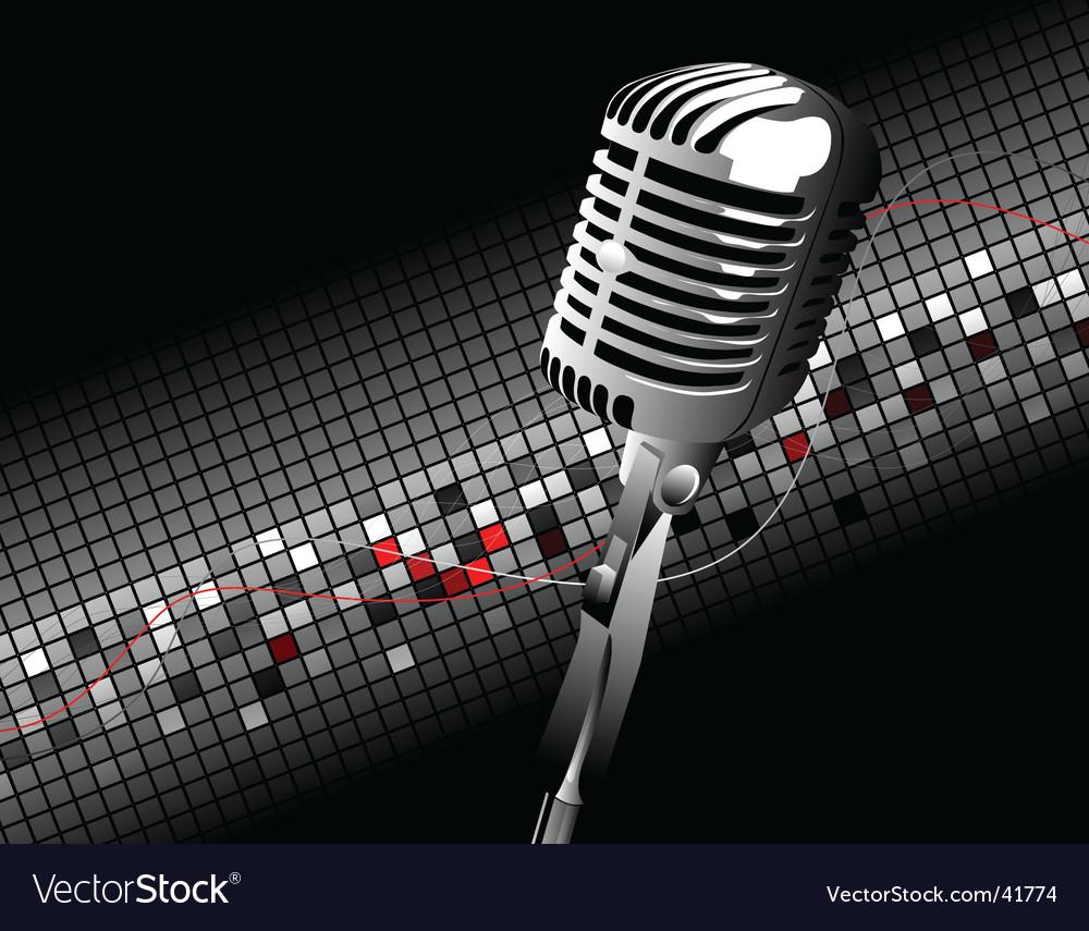 Vintage mic vector image