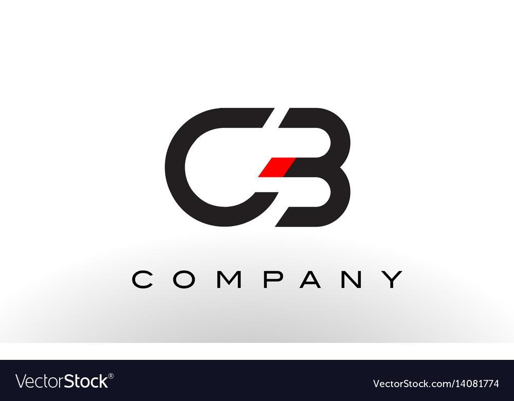 Cb logo letter design vector image