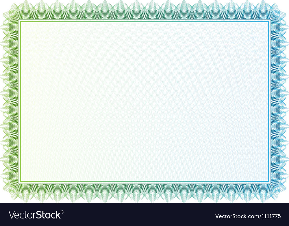 Pattern that is used in currency and diplomas vector image