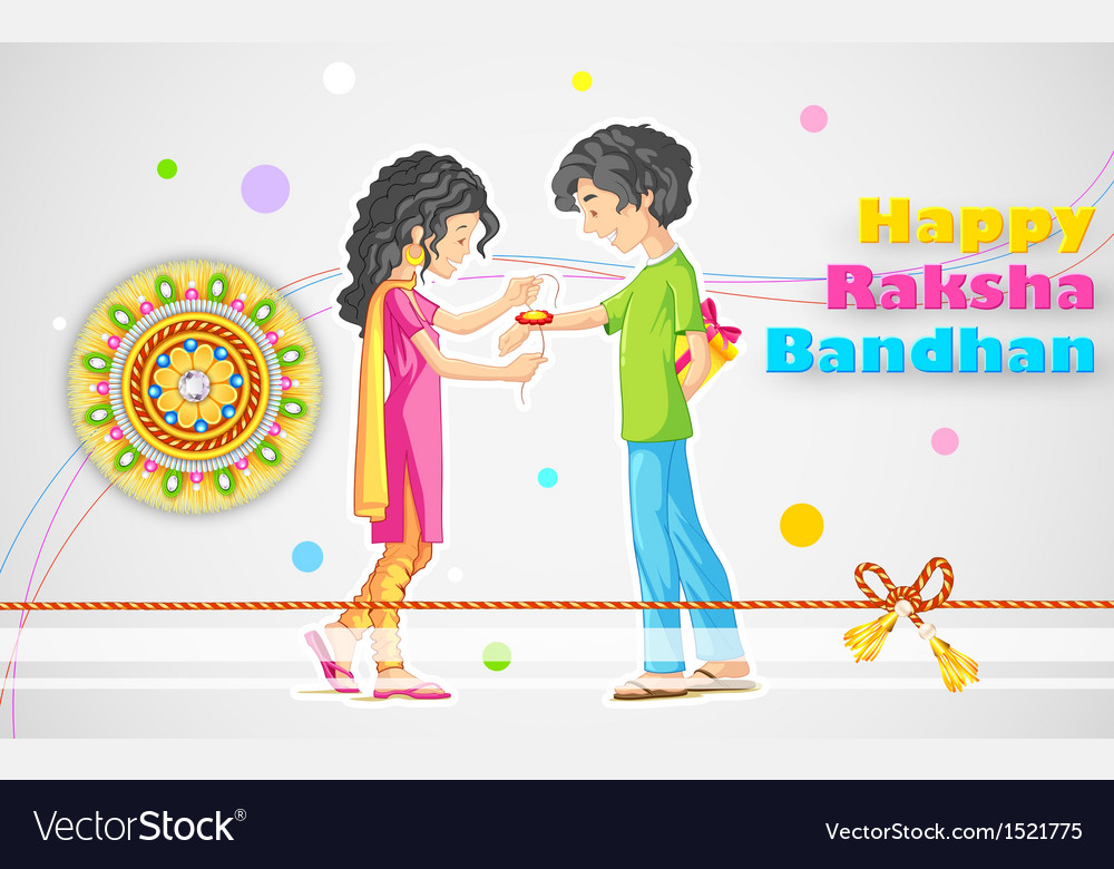 Raksha Bandhan vector image