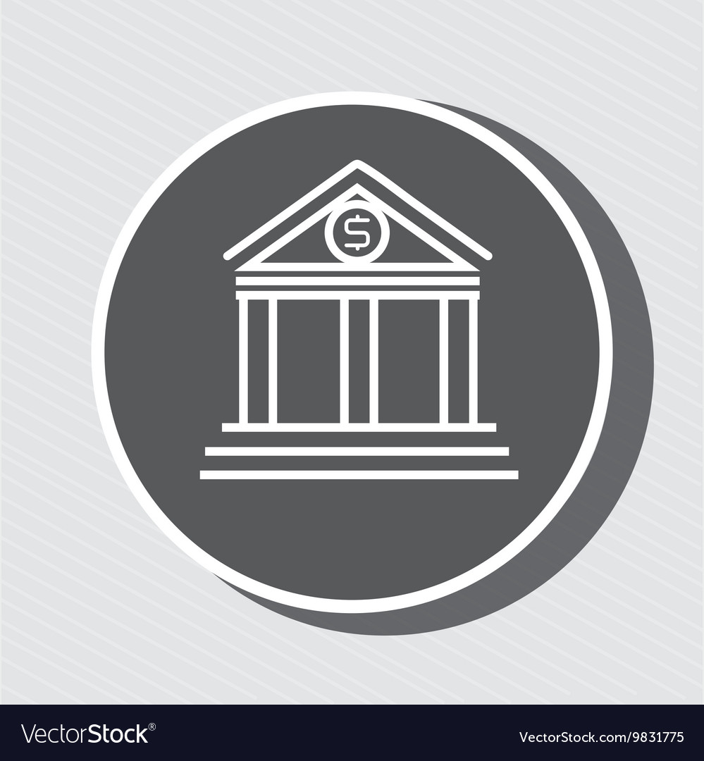Symbol of bank blue isolated icon design vector image symbol of bank blue isolated icon design vector image biocorpaavc Gallery