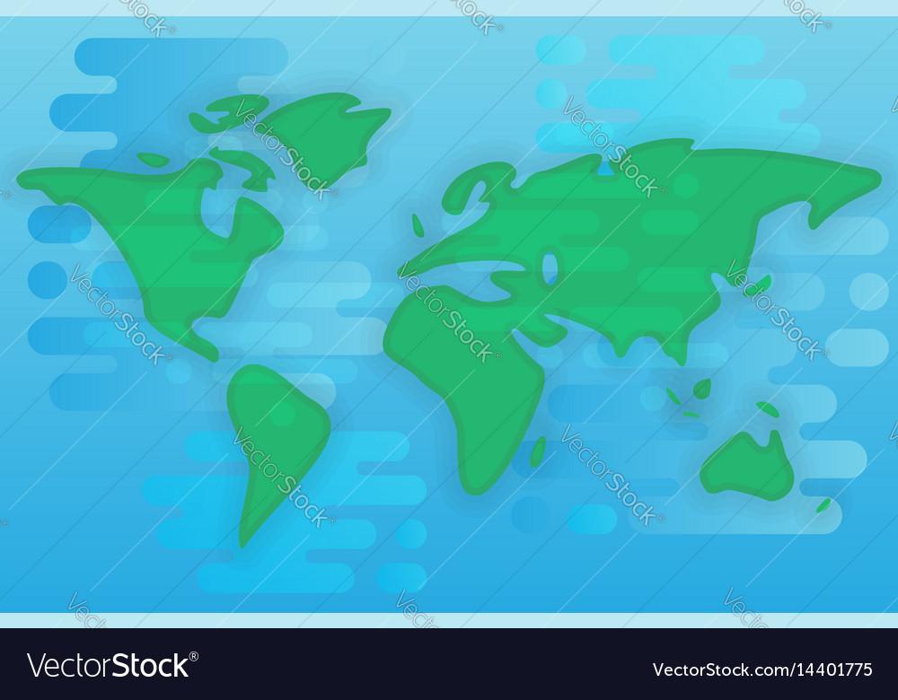 World map cartoon flat royalty free vector image world map cartoon flat vector image gumiabroncs Images