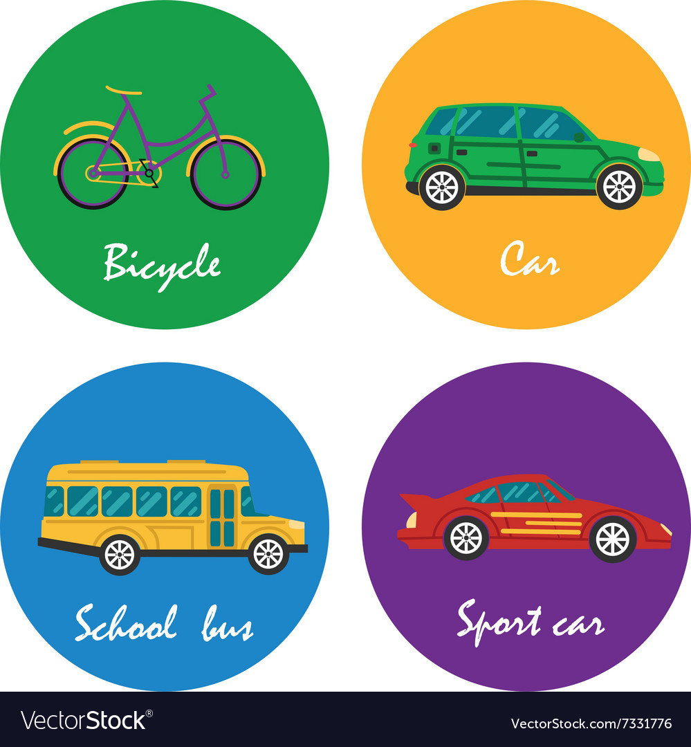Road transportation icons set vector image