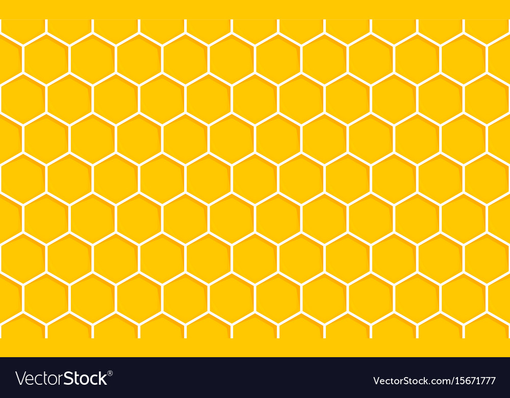 Honeycomb seamless pattern geometric hexagons vector image