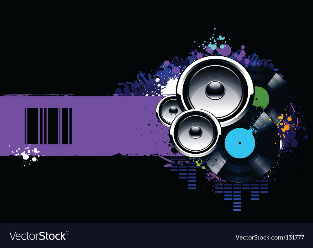 Musical banner vector image