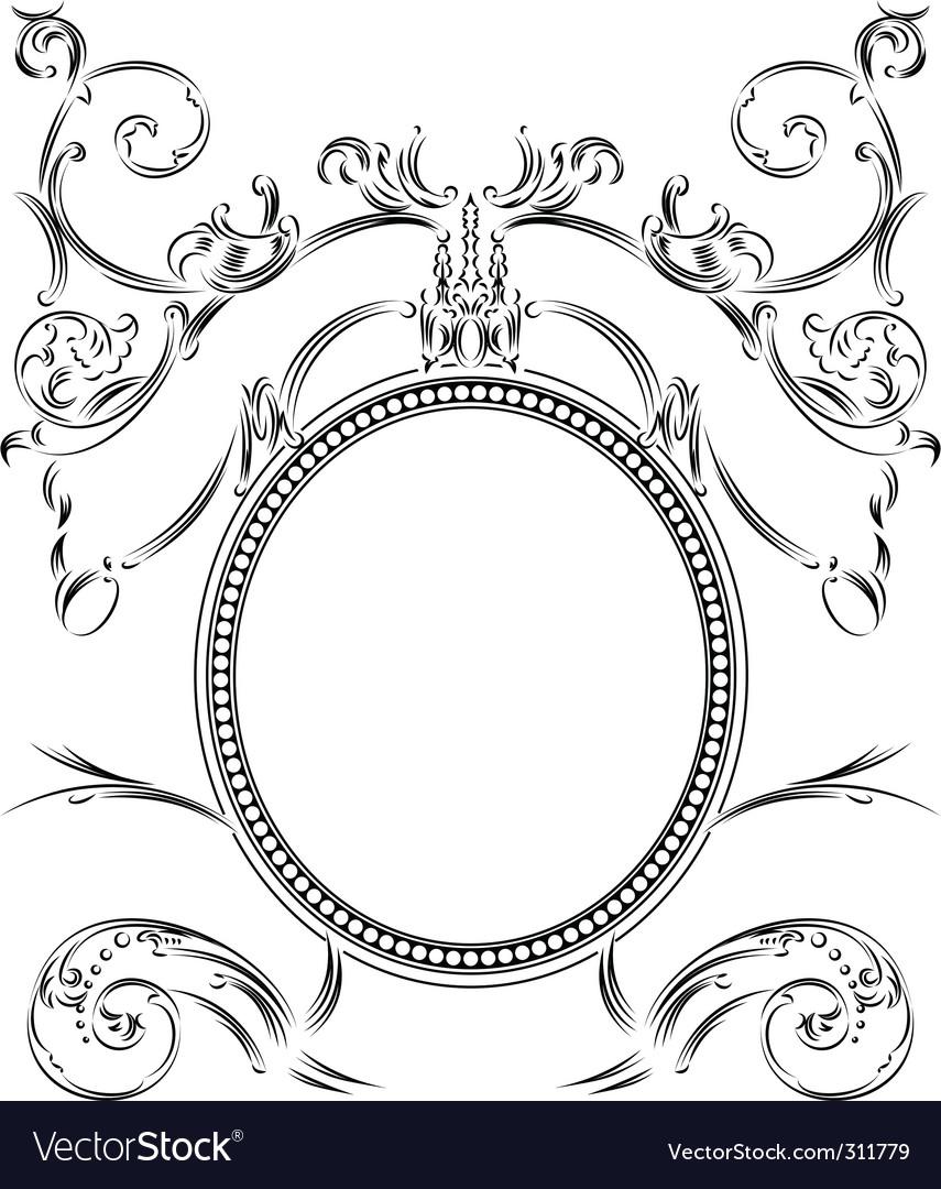 black vintage frame design. Vintage Frame Vector Image Black Design