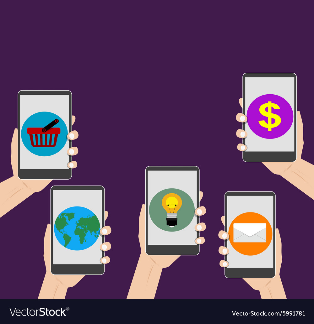 Mobile apps vector image